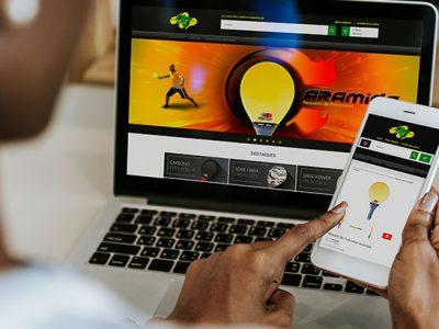 Loja Virtual - E-Commerce - Venda de Raquetes de Frescobol Fast Ball - Frescobol Brasil - Mockup