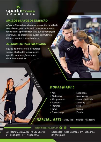 Flyer Institucional Academia Sparta Fitness - Verso