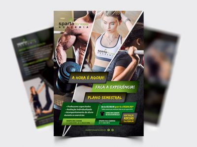 Flyer Institucional Academia Sparta Fitness