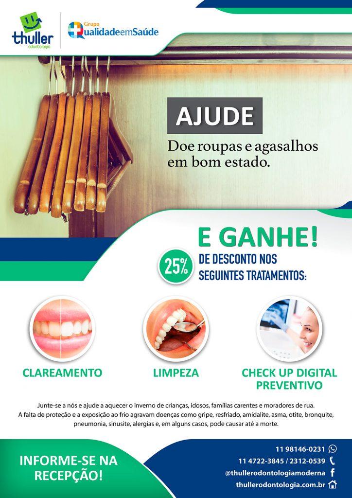 Cartaz A3 - Campanha de Inverno 2017 - Clínica Odontológica